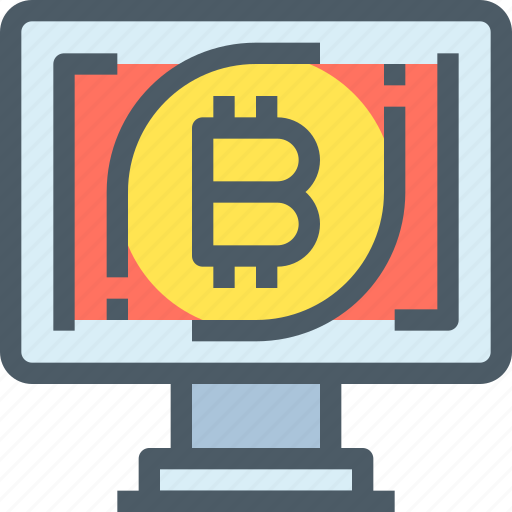 bank, bitcoin, computer, cryptocurrency, digital, money icon