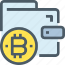 bank, bitcoin, cryptocurrency, digital, money, wallet icon