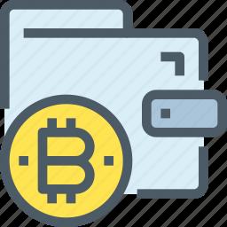bank, bitcoin, cryptocurrency, digital, money, wallet icon