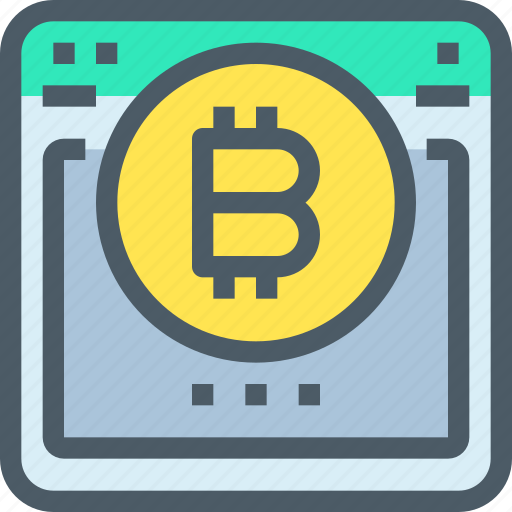 bank, bitcoin, browser, cryptocurrency, digital, money icon