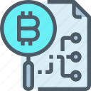 bank, bitcoin, cryptocurrency, digital, document, money icon
