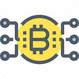 bank, bitcoin, cryptocurrency, digital, money, network icon