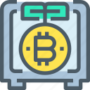 bank, bitcoin, cryptocurrency, digital, money, safe icon