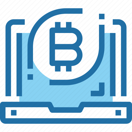 bank, bitcoin, computer, cryptocurrency, money icon