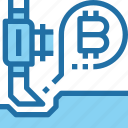 bank, bitcoin, cryptocurrency, dig, money icon