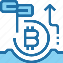 bank, bitcoin, cryptocurrency, finance, investment, money icon