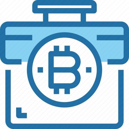 bag, bank, bitcoin, business, case, cryptocurrency, money icon