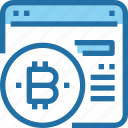 bank, bitcoin, browser, cryptocurrency, money, payment icon