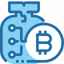 bag, bank, bitcoin, cryptocurrency, investment, money icon