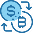 bank, bitcoin, cryptocurrency, exchange, money icon