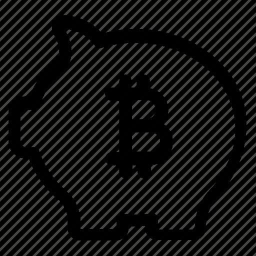 Piggybank, business, money, bitcoin, banking, piggy, coin icon - Download