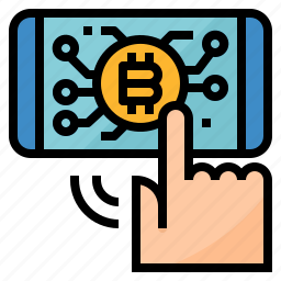 application, bitcoin, chart, investment icon