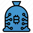 bag, bitcoin, cash, coin, currency, money icon