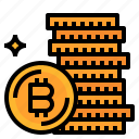 bitcoins, cash, coin, currency, money icon