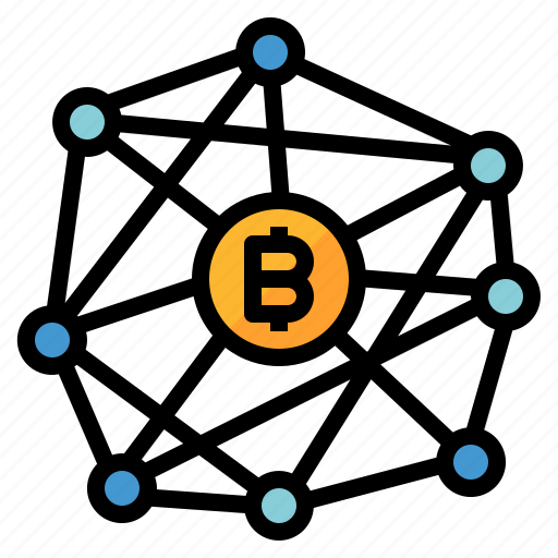 based, bitcoin, block, chain, currency, money icon