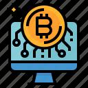 bitcoin, cash, coin, computer, money