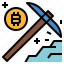 bitcoin, claiming, currency, dig, mining, money icon