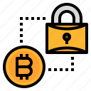 bitcoin, data, encryption, key, protect, protection icon