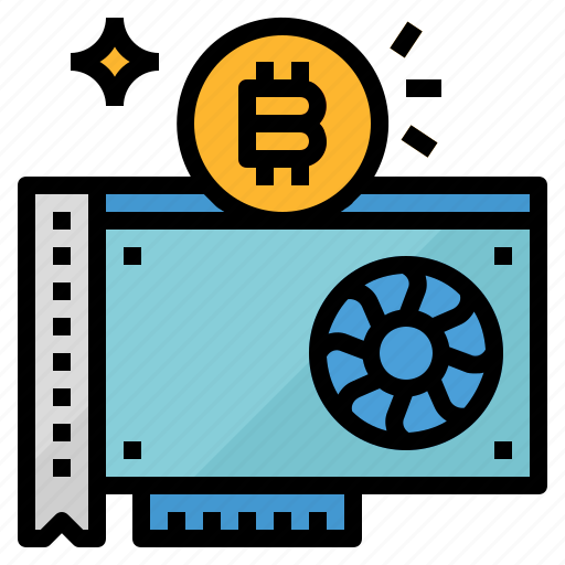 bitcoin, card, claiming, dig, graphics, mining icon