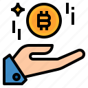 bitcoin, earn, income, money, profit icon