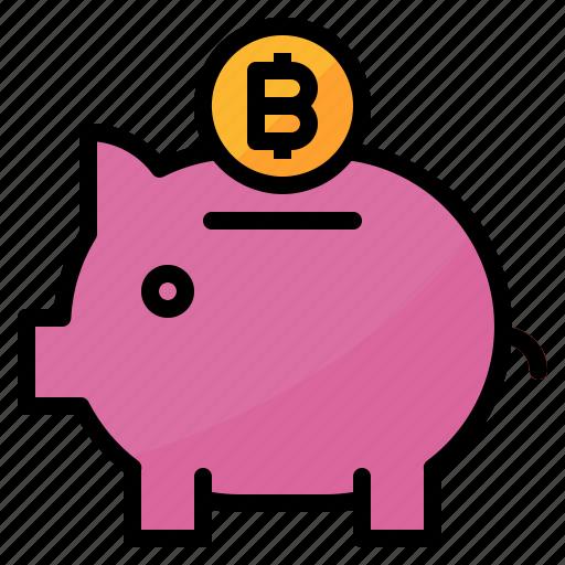 bank, bitcoin, cash, coin, money, saving, wallet icon