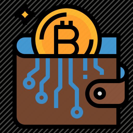 bitcoin, cash, coin, money, wallet icon