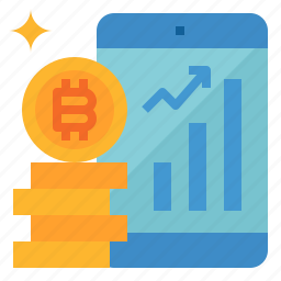 application, bitcoin, chart, investment, trading icon