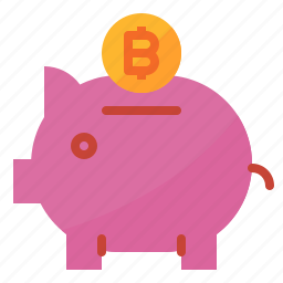 bank, bitcoin, cash, coin, money, saving, wallet icon