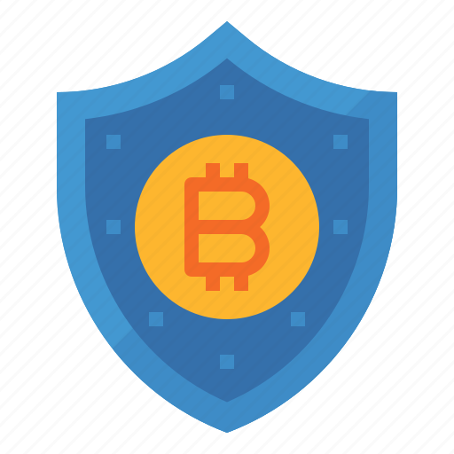 bitcoin, data, key, protect, protection, shield icon