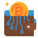bitcoin, cash, coin, money, wallet icon