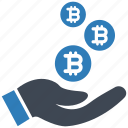 bitcoin, cryptocurrency, profit icon