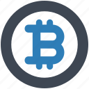 bitcoin, digital, money icon