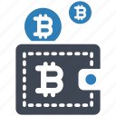 bitcoin, digital, wallet icon