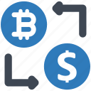 bitcoin, dollar, exchange icon