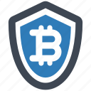 bitcoin, protection, security icon
