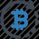 bitcoin, refund, reload icon