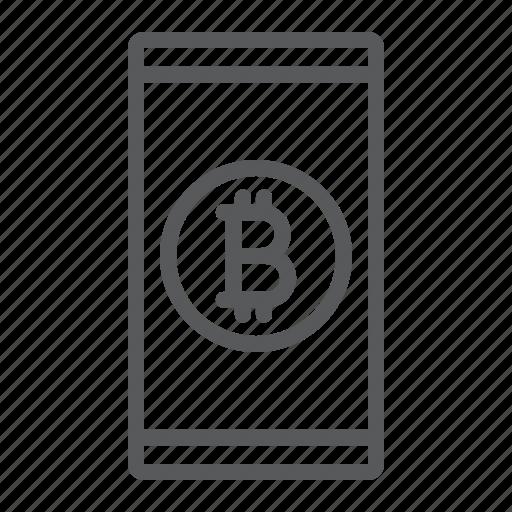 app, bitcoin, coin, finance, mobile, money, smartphone icon