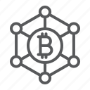 bitcoin, crypto, currency, digital, network icon