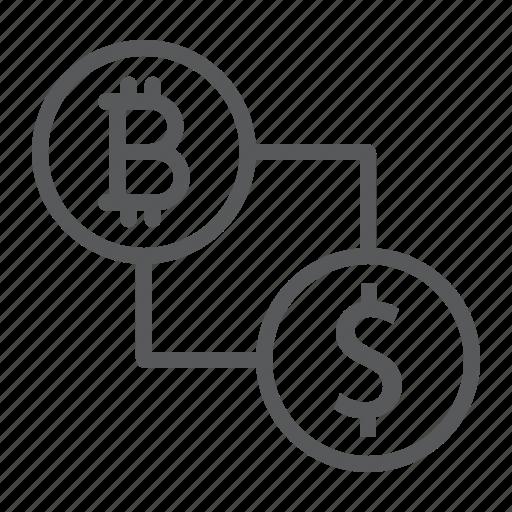 bitcoin, crypto, currency, dollar, finance, money, vs icon