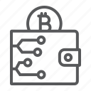 bitcoin, cash, digital, finance, purse, wallet icon