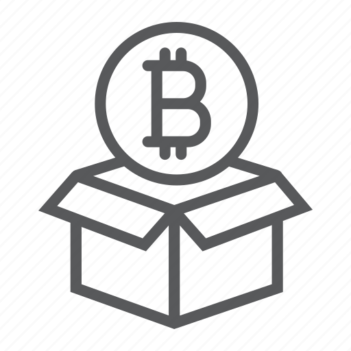 bitcoin, block, box, coin, digital, money, reward icon