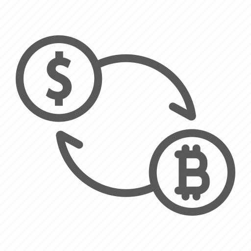 bitcoin, crypto, currency, dollar, exchange, money, sign icon