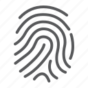 cryptographic, finger, fingerprint, idenity, print, security, signature icon