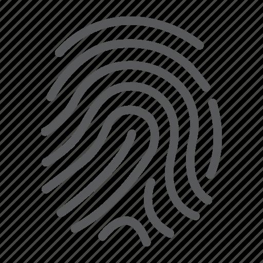 cryptographic, finger, fingerprint, idenity, print, security, signature icon