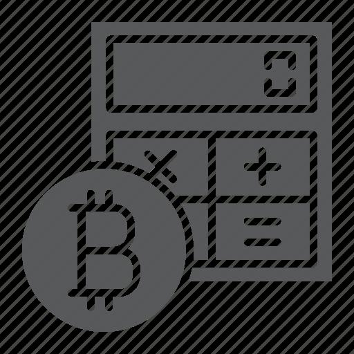 bitcoin, calculate, calculator, coin, cryptocurrency, finance icon