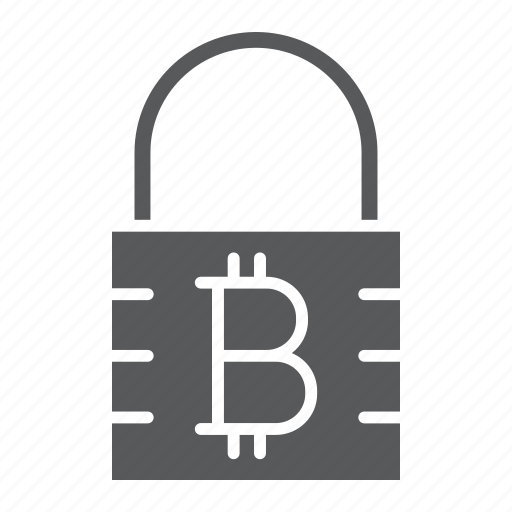 bitcoin, cryptocurrency, encryption, lock, padlock, protection, security icon