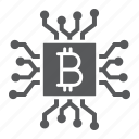 bitcoin, chip, core, cpu, crypto, mining, processor icon
