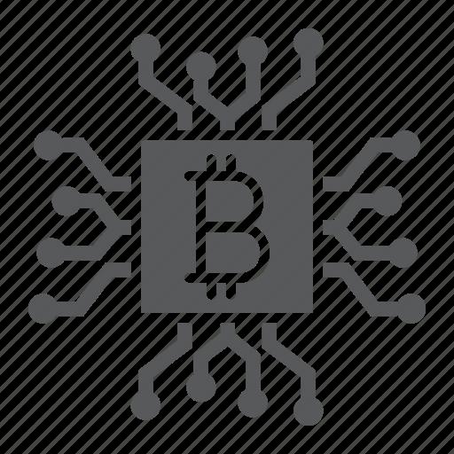 bitcoin, chip, core, cpu, crypto, mining, processor icon