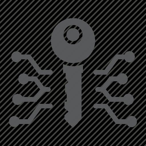 digital, key, lock, protection, safety, security, unlock icon