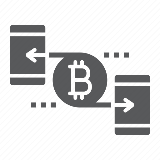 bitcoin, cryptocurrency, finance, money, peer, smartphone, to icon